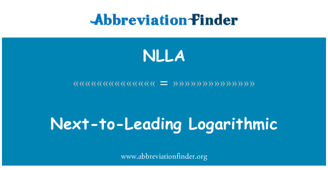 NLLA: Next-to-Leading Logarithmic