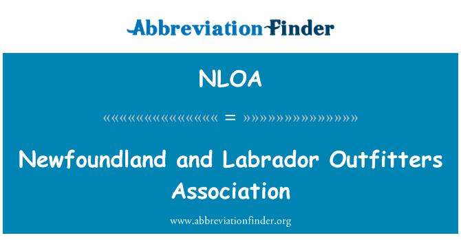 NLOA: Newfoundland and Labrador Outfitters Association