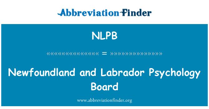 NLPB: Newfoundland and Labrador Psychology Board