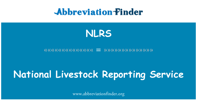 NLRS: National Livestock Reporting Service