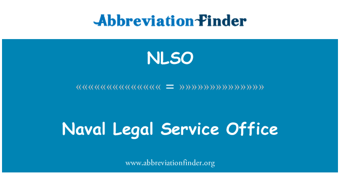 NLSO: Naval Legal Service Office