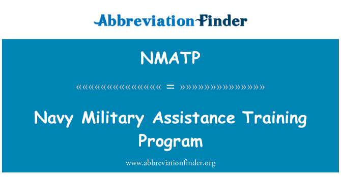 NMATP: Navy Military Assistance Training Program