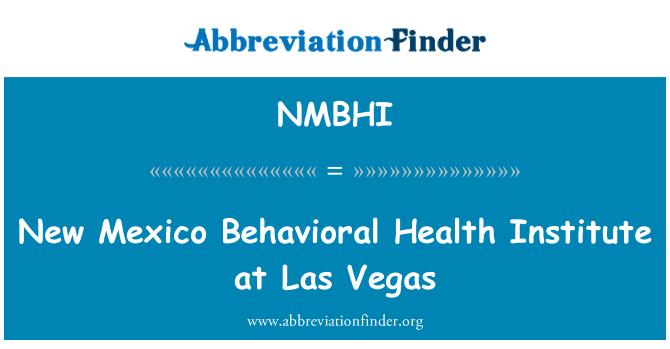 NMBHI: 拉斯维加斯的新墨西哥行为健康研究所