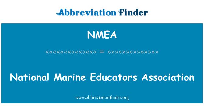 NMEA Definición: Asociación Nacional de educadores marino