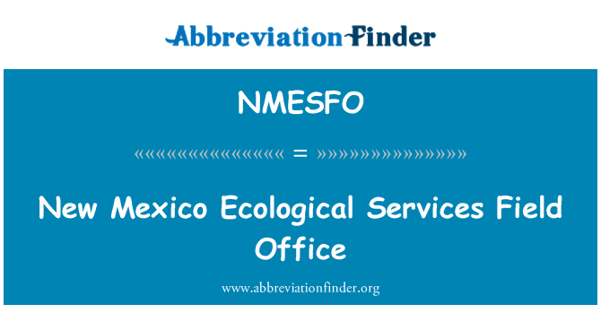 NMESFO: New Mexico Ecological Services Field Office