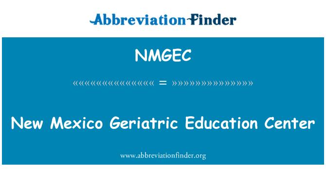 NMGEC: New Mexico Geriatric Education Center