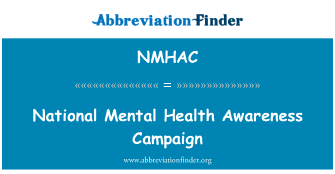 NMHAC: National Mental Health Awareness Campaign