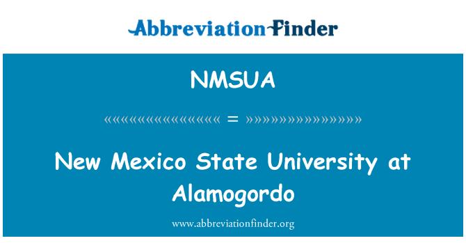 NMSUA: New Mexico State University at Alamogordo