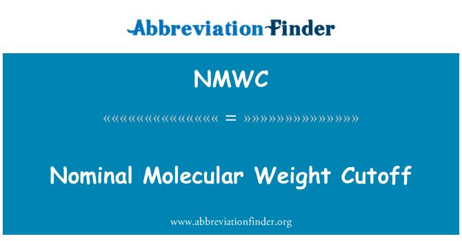 NMWC: Nominaalne molekulmassiga tarneseisak
