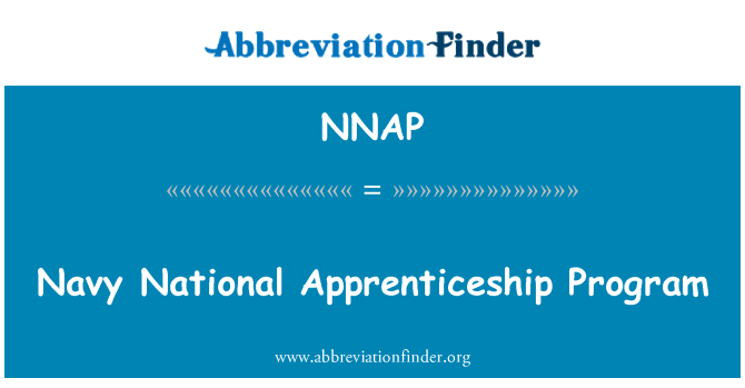 NNAP: Navy National Apprenticeship Program