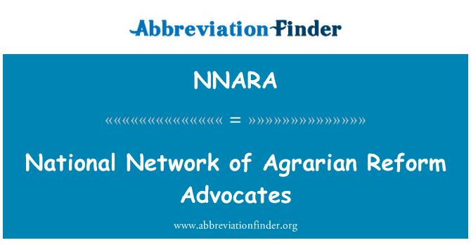 NNARA: National Network of Agrarian Reform Advocates