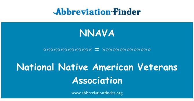 NNAVA: Asociación Nacional de veteranos nativos americanos