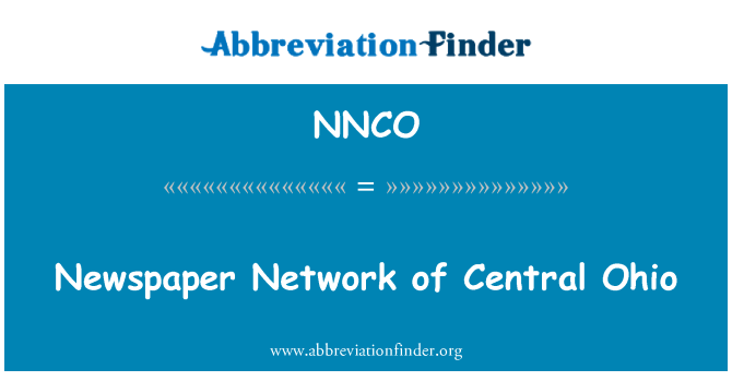 NNCO: Newspaper Network of Central Ohio