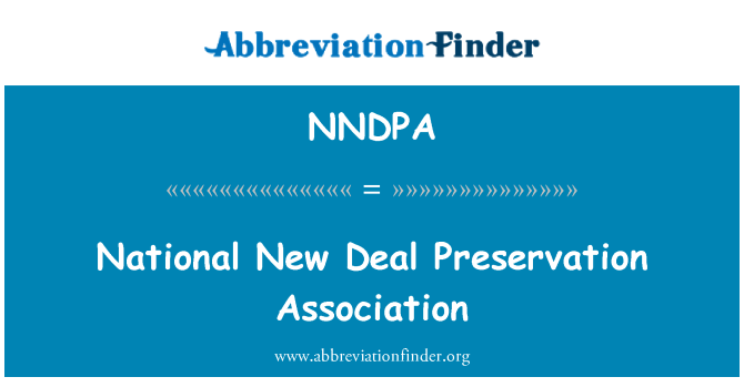 NNDPA: National New Deal Preservation Association