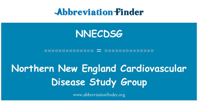 NNECDSG: 新英格兰北部心血管疾病研究组