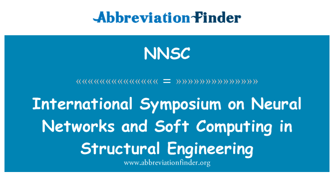 NNSC: International Symposium on Neural Networks and Soft Computing in Structural Engineering