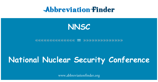 NNSC: National Nuclear Security Conference