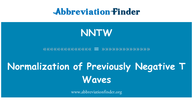 NNTW: Normalization of Previously Negative T Waves