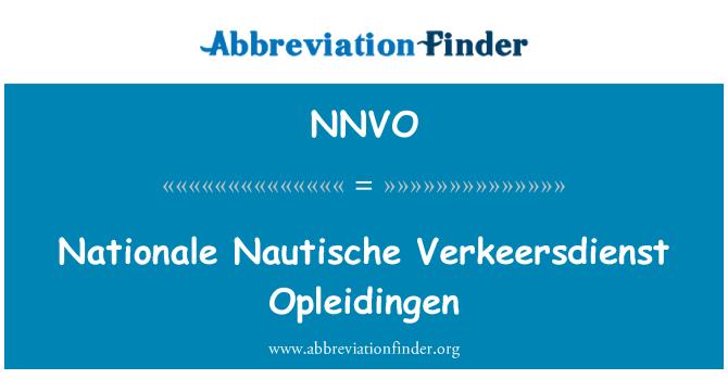 NNVO: Nationale Nautische Verkeersdienst Opleidingen