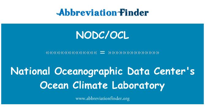 NODC/OCL: National Oceanographic Data Center's Ocean Climate Laboratory