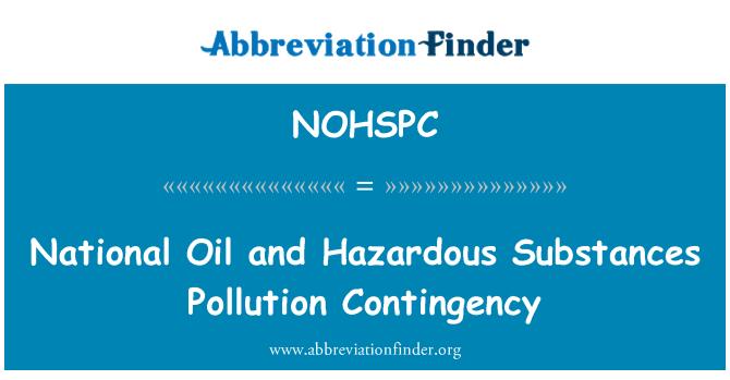 NOHSPC: National Oil and Hazardous Substances Pollution Contingency