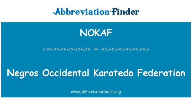 NOKAF: Negros Occidental Karatedo Federation