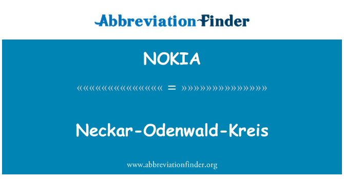 NOKIA: Neckar-Odenwaldi-Kreis