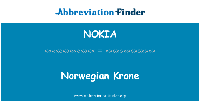 NOKIA: Norveç Kronu