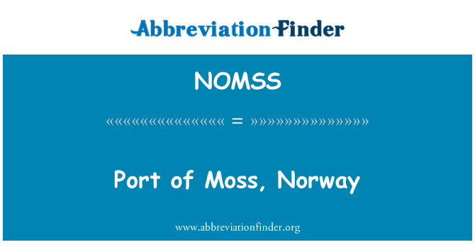 NOMSS: Port of Moss, Norway
