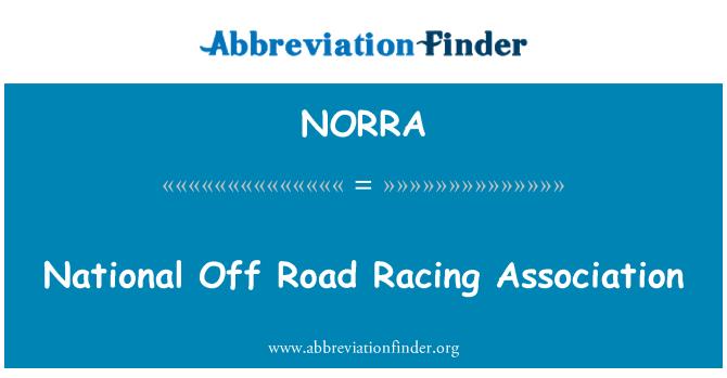 NORRA: Nacional Off Road Racing Association