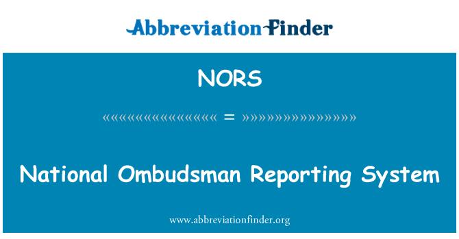 NORS: Sistema de reportes de la Defensoría del pueblo