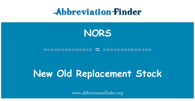 NORS: Nuevo viejo Stock de recambio
