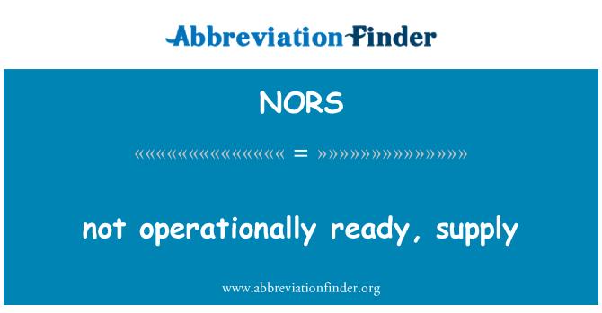 NORS: No operacionalmente, suministro