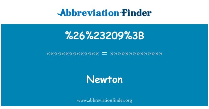 %26%23209%3B: Newton