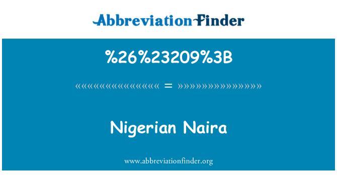 %26%23209%3B: Naira Nigeria