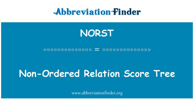 NORST: Sobe naredio odnos rezultat stablo