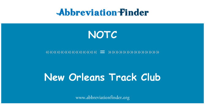 NOTC: Nueva Orleans Track Club
