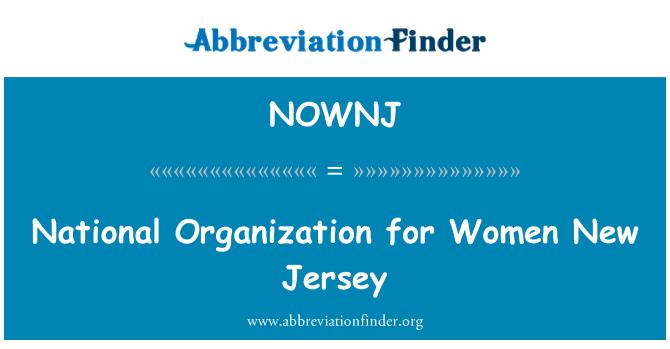 NOWNJ: Organización Nacional para mujeres New Jersey