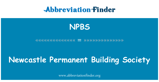NPBS: Newcastle Permanent Building Society