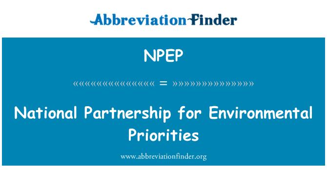 NPEP: National Partnership for Environmental Priorities