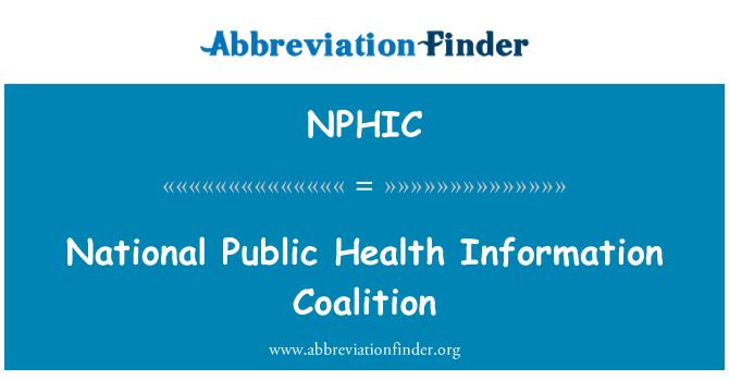 NPHIC: National Public Health Information Coalition