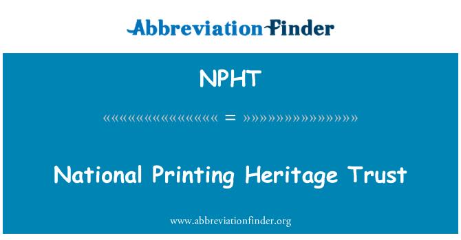 NPHT: National Printing Heritage Trust