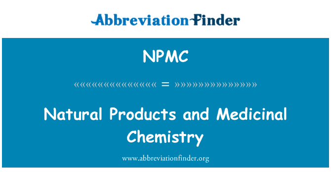 Medicinal And Natural Products Chemistry