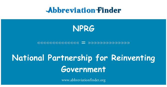 NPRG: Asociación Nacional para reinventar el gobierno