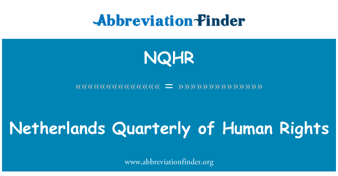 NQHR: Netherlands Quarterly of Human Rights