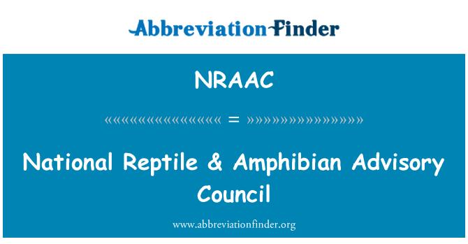 NRAAC: Consejo Consultivo Nacional del reptil & anfibios
