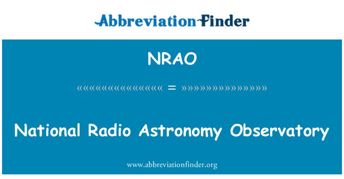 NRAO: Observatorio Nacional de radioastronomía