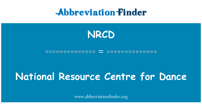 NRCD: National Resource Centre for Dance