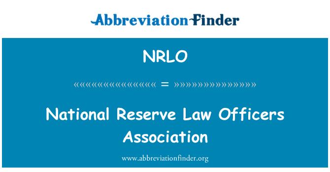 NRLO: National Reserve Law Officers Association