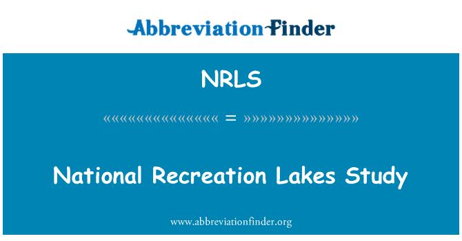 NRLS: Estudio nacional recreación lagos